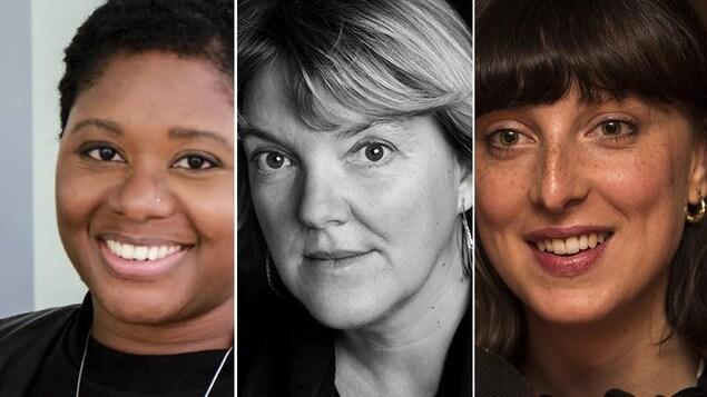 Montage photo des trois portraits de ces femmes.