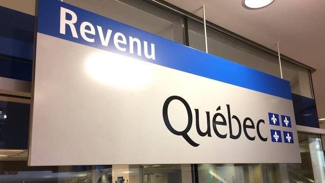 Affiche de Revenu Québec.