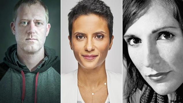 Le jury du Prix du récit Radio-Canada 2018 : Marc Séguin, Noémi Mercier et Georgette LeBlanc