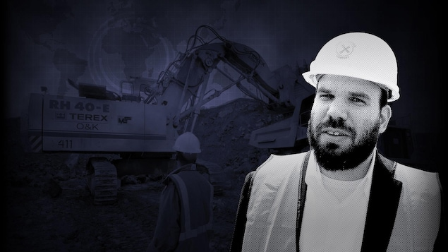 Un montage photo montre l'homme d'affaires israélien Dan Gertler et un chantier minier.