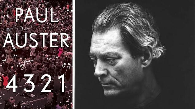 Photo de la couverture du livre et photo en noir et blanc de l'auteur