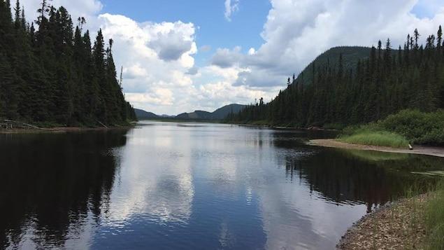 La rivière Pikauba dans la Réserve faunique des Laurentides.