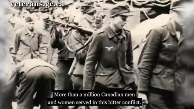 Anciens Combattants Canada retire une vidéo commémorative montrant des troupes nazies