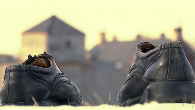 Les souliers de Gérald Laroche
