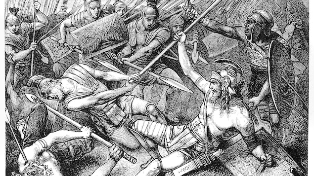 Illustration de la mort de Spartacus
