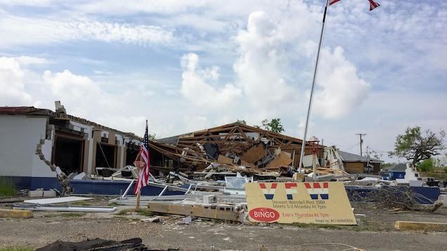 Une bâtisse détruite