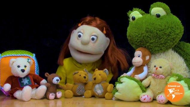 La marionnette Suzanne et des animaux.
