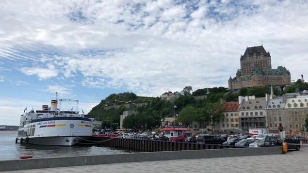 Vue de la ville de Québec depuis le port