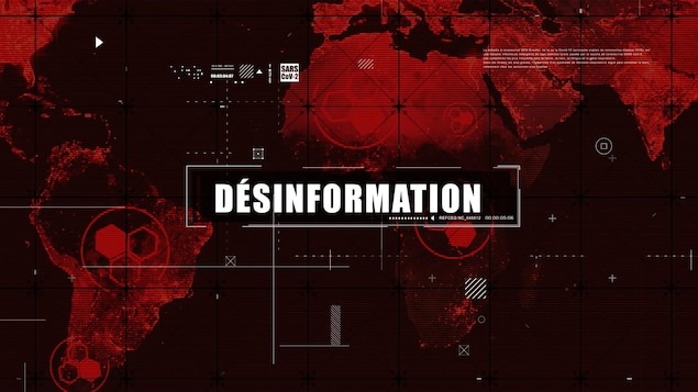 La capture d'écran de l'émission Décrypteurs indique le mot désinformation.