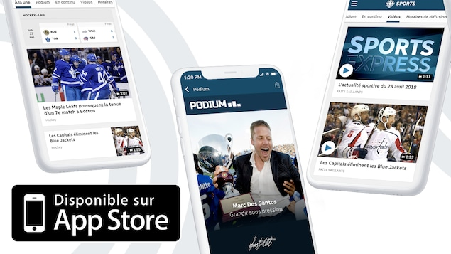 L'application RC Sports sur iOS...