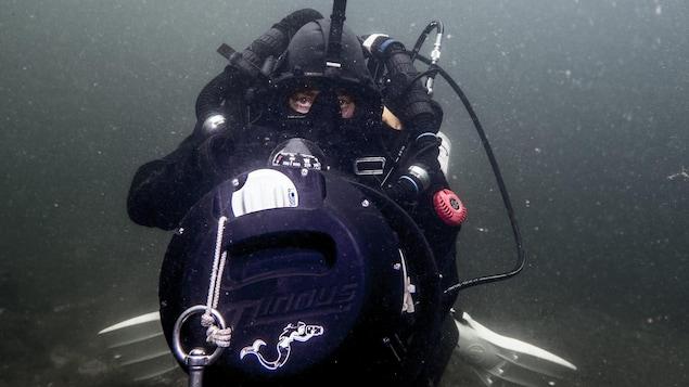 Six heures sous l'eau dans le Saint-Laurent