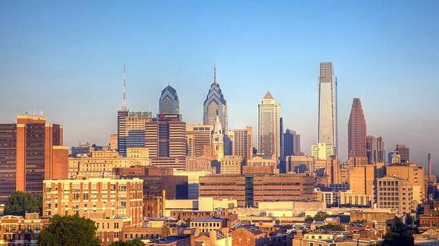 Vue de la ville de Philadelphie.