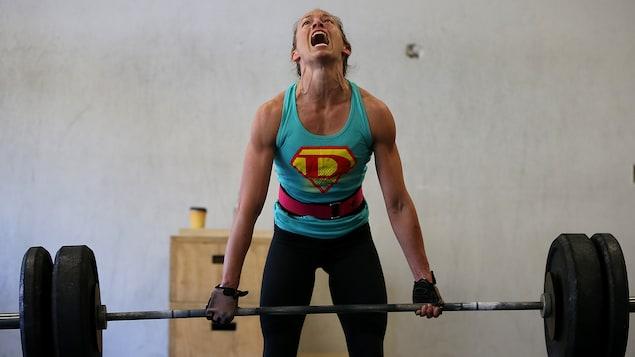 Une adepte du CrossFit