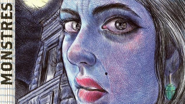 Une femme dessinée au stylo à billes