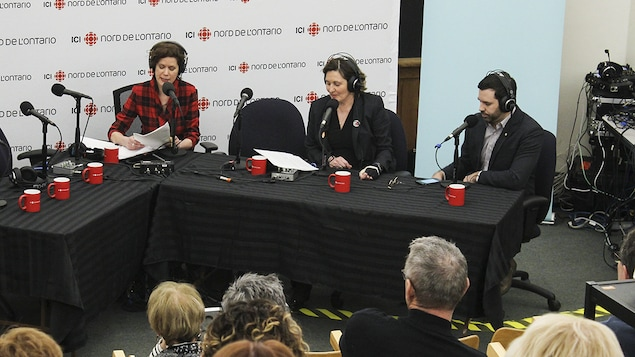 Catherine Perrin avec Marie Lebel et André Robichaud.
