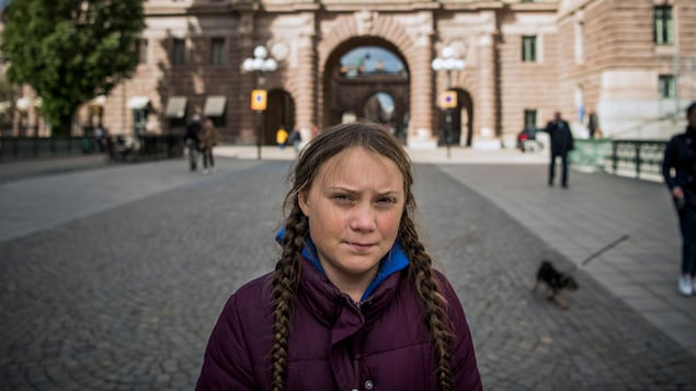 La jeune militante Greta Thunberg à Stockholm, en 2018.
