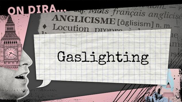 L'illustration d'un phylactère où est inscrit « gaslighting ».