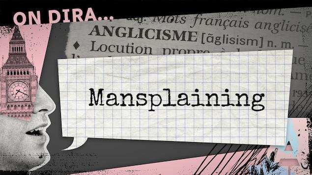 L'illustration d'un phylactère où est inscrit « mansplaining ».