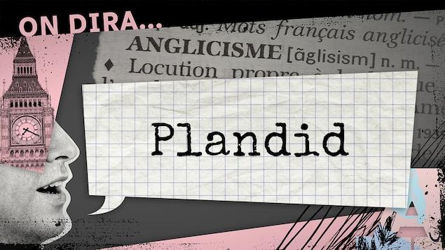 Contraction des mots «planned» et «candid» (soit «planifiée» et «candide»)