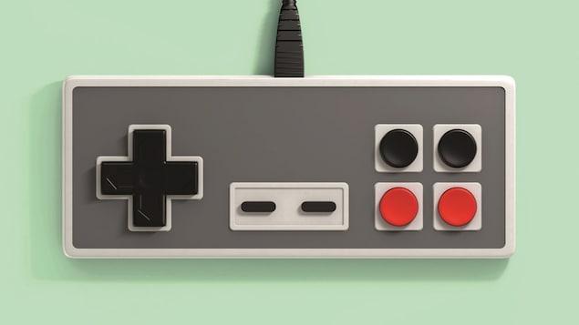 Page couverture du livre Souffler dans la cassette : une manette de Super Nintendo sur fond vert pâle