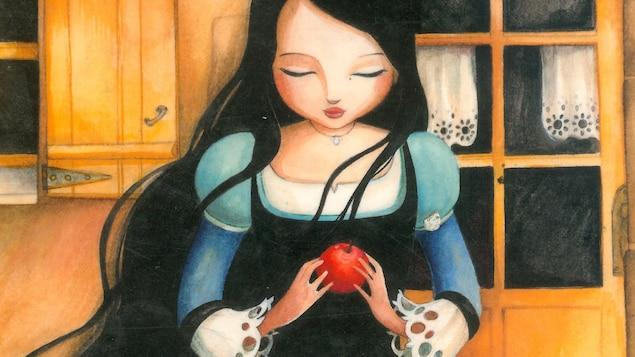 Page couverture du livre jeunesse Blanche-Neige