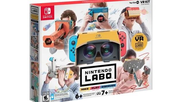 L'ensemble de réalité virtuelle et la boîte de présentation