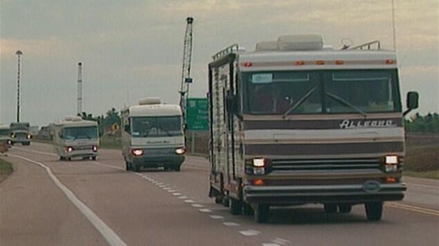 Une caravane de Cadiens se rend au N.-B. pour le CMA 1994