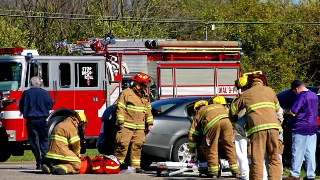 Est-ce que les compagnies d'assurance remboursent les frais d'intervention des pompiers lors d'un accident d'automobile?