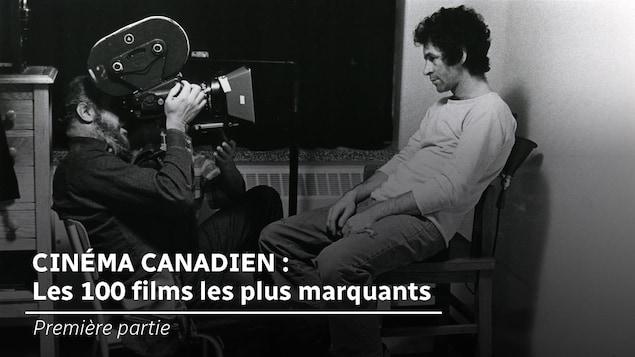 Michel Brault et Claude Gauthier lors du tournage du film <i>Les ordres</i>