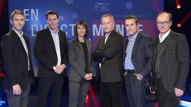 Yanik Dumont Baron, Yvan Côté, Marie-Eve Bédard, Jean-François Bélanger, Christian Latreille et Sylvain Desjardins