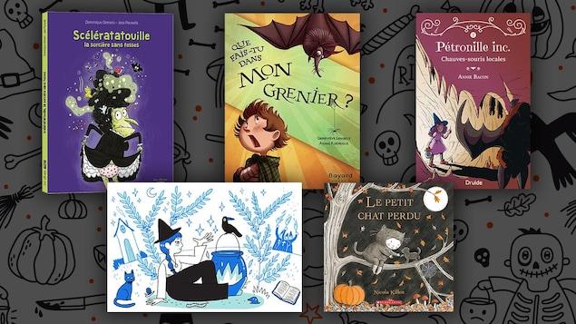 cinq livres sur Halloween