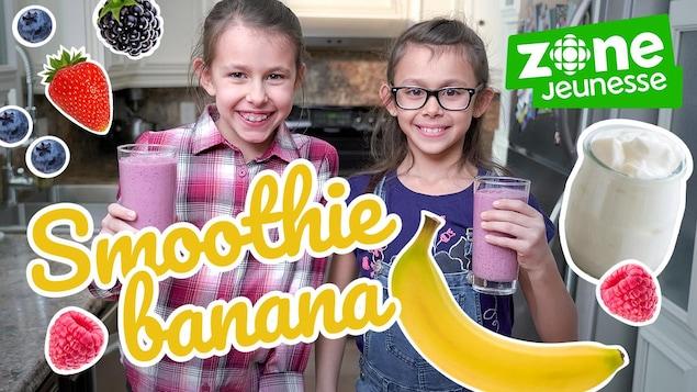 Elles cuisinent un smoothie à la banane