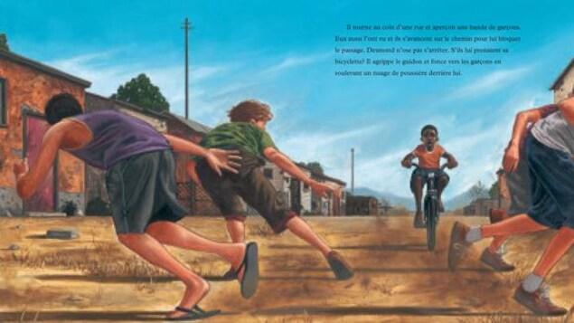 Il fonce en vélo sur des enfants racistes