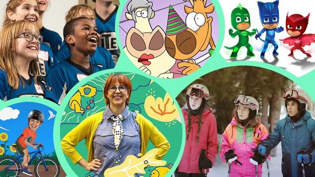 Visuels des émissions pour les enfants