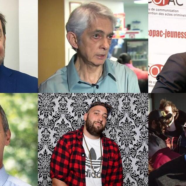 Jean Fortier, Bernard Gurberg, Fabrice Ntompa Ilunga, Gilbert Thibodeau, Tyler Lemco et Philippe Tessier sont candidats à la mairie de Montréal.