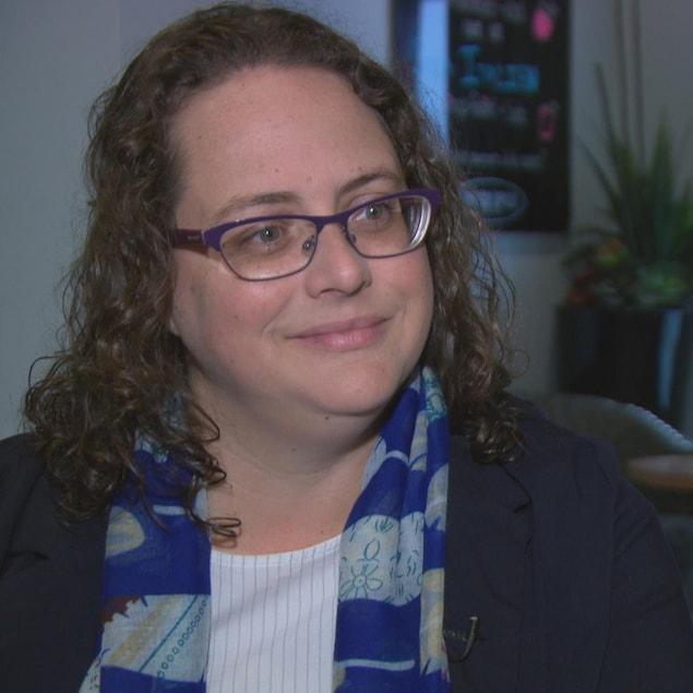 Isabelle N. Miron en entrevue avec Radio-Canada.
