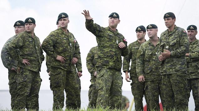 Des soldats de l'armée canadienne