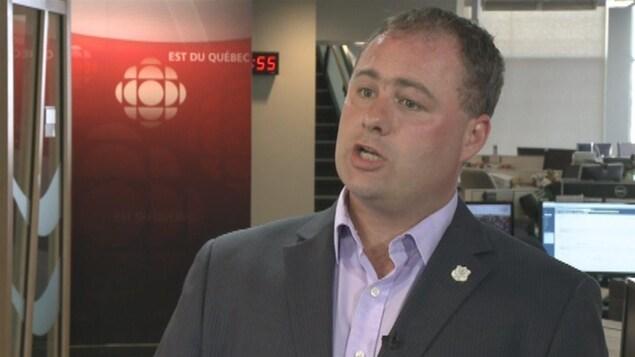 Mathieu Lavoie, président du Syndicat des agents de la paix en services correctionnels du Québec