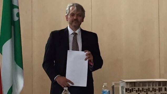 Stéphane Gauthier président de la Place des Arts de Sudbury.