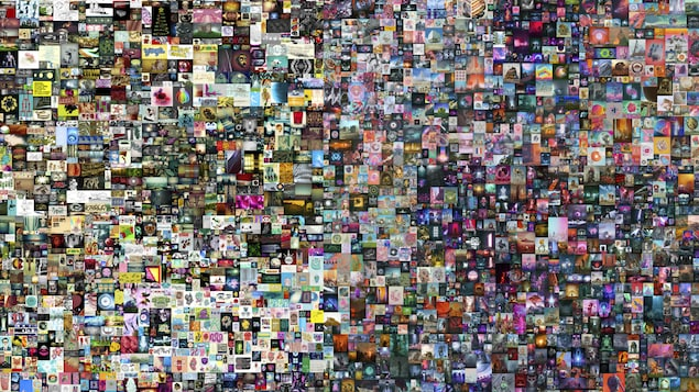 Un collage photographique de 5000 différentes images ou animations.