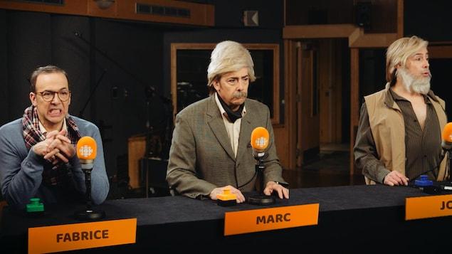 Pierre Brassard imite Fabrice Luchini, Marc Laurendeau et Joël Le Bigot.