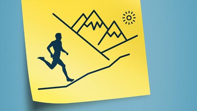 Illustration d'une piste d'ultramarathon.