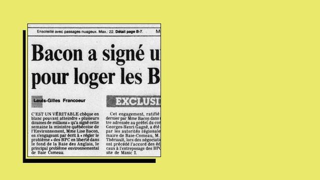Coupure du journal Le Devoir illustrant un article de Louis-Gilles Francoeur.