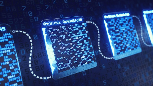 Une structure abstraite qui montre le système Blockchain.