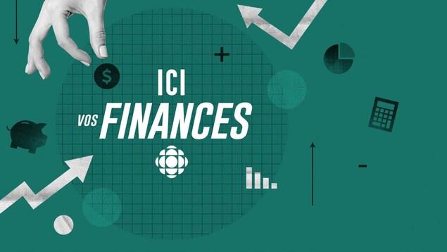 Différentes images et symboles illustrant les finances.