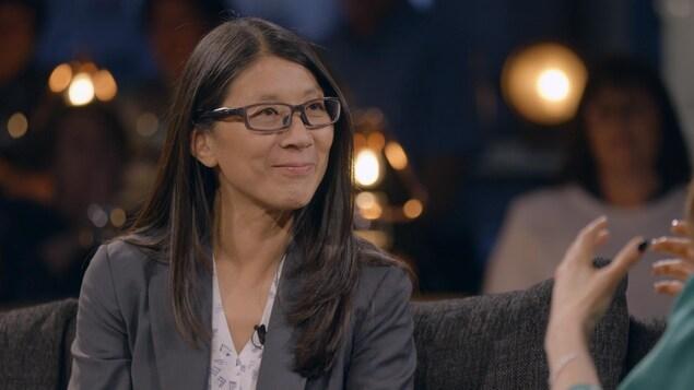 La médecin Joanne Liu sur la plateau de Pour emporter.