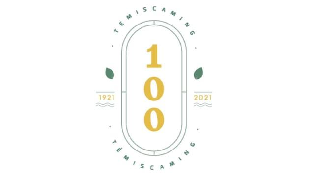 Logo avec le chiffre 100 à la verticale.
