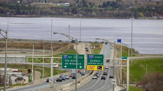 Le tunnel aboutira au bout de l'autoroute 40, à l'est de Québec.