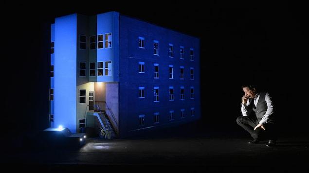 Une scène de la pièce « 887 » de Robert Lepage