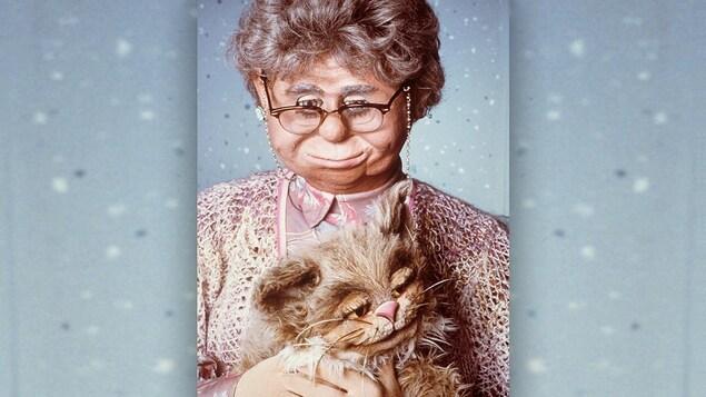 La marionnette Madame Bourette et son chat Ti-Mine
